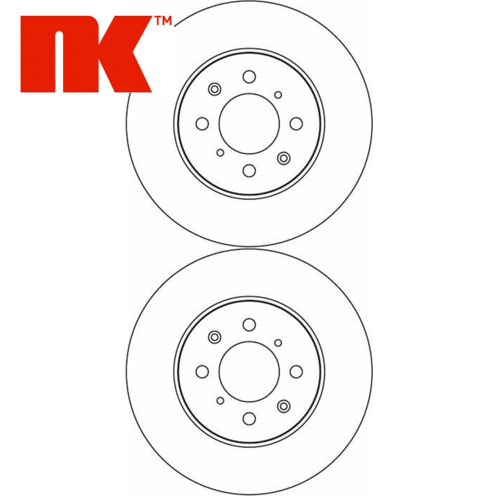 2x NK Bremsscheiben Vorn Vorderachse MG ROVER 204012