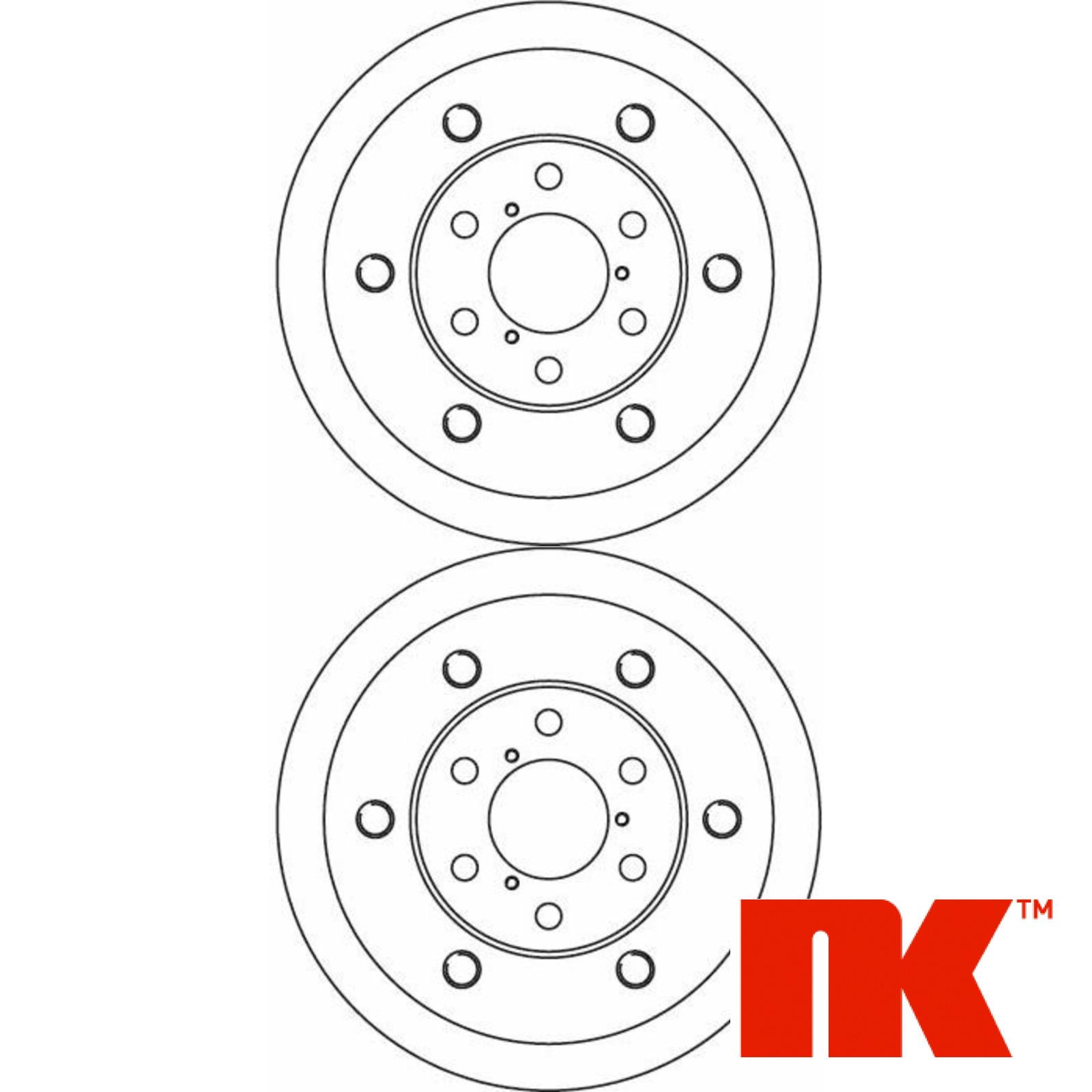 2x NK Bremsscheiben Vorn Vorderachse IVECO 202326